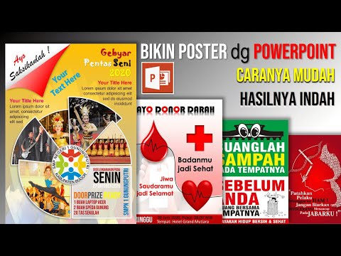 Cara Membuat Poster Plakat dengan PowerPoint