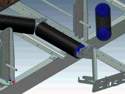 3d model of drop down idler frame aerison youtube for 3d kuchenplaner roller