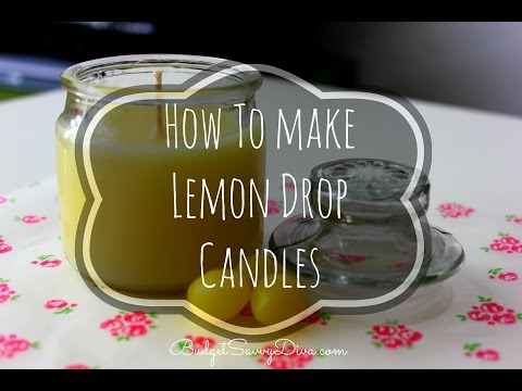 How To Make Lemon Drop Candles