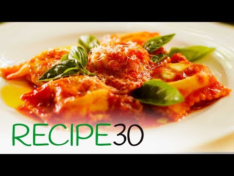 Best Home Made Fresh Ravioli with Tomato Sauce