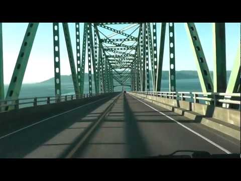 Astoria-Megler Bridge to WASHINGTON State (Driving across)