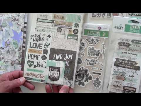 NEW Prima Zella Teal Scrapbooking Collection