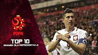 Robert Lewandowski - TOP 10 Bramek dla Reprezentacji Polski ᴴᴰ