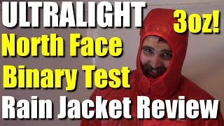 Ultralight Rain Jacket: North Face Binary Testing and Review | RevHiker