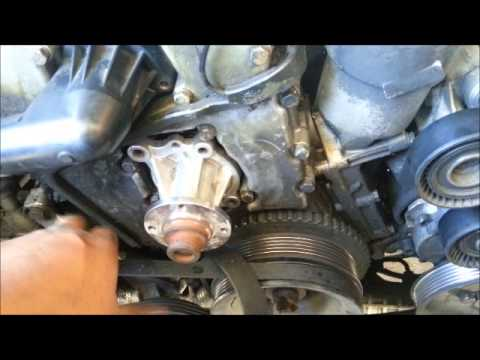 How to remove a stuck water pump from BMW E36 M43 1.8L Engine