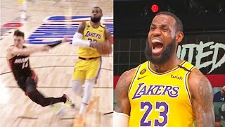 LeBron James Bullies Tyler Herro & Gets Revenge For His Mean Mug! Lakers vs Heat Game 4