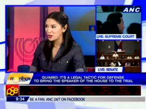 [ANC Mornings] Rep. Miro Quimbo, Spokesperson, House Prosecution Panel