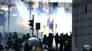 Hong Kong unrest: Tense standoff following violent protests