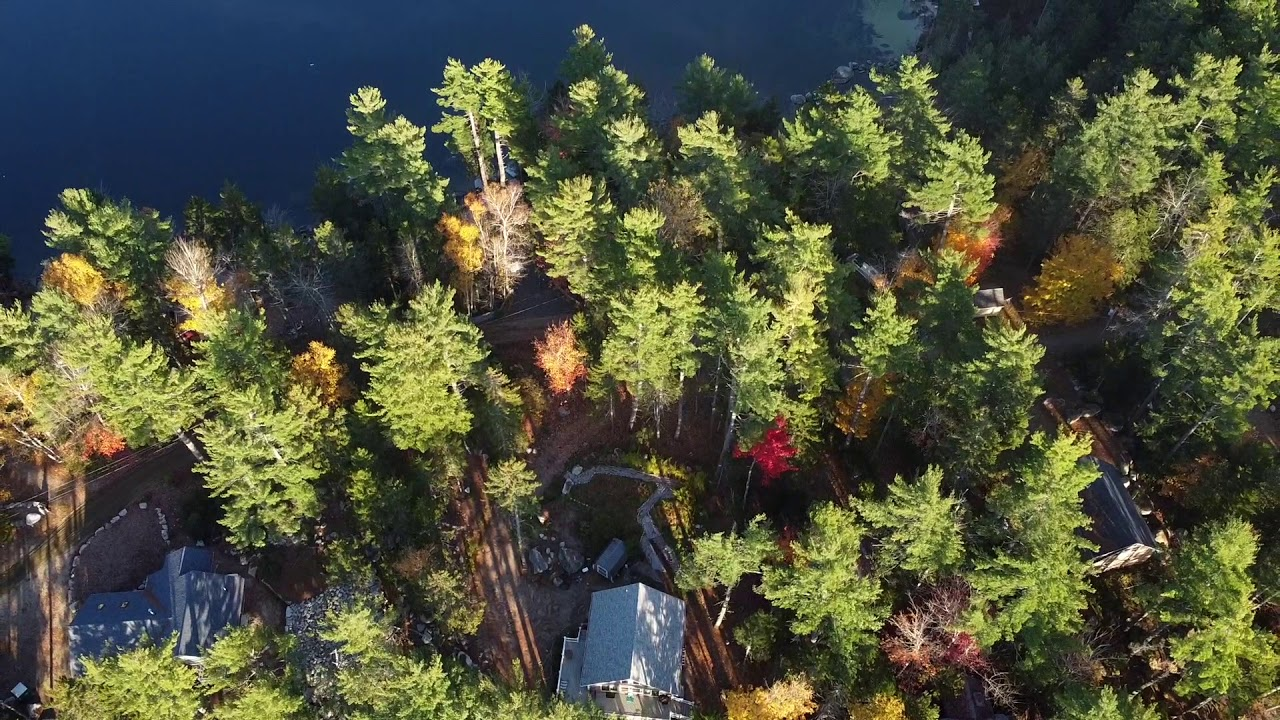 Fall Colors High Above Molasses Pond & Blueberry Fields, Eastbrook, ME