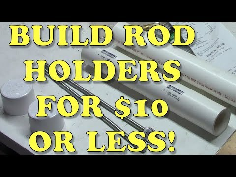 How To Build Quality Bank Rod Holders for $10 or Less!