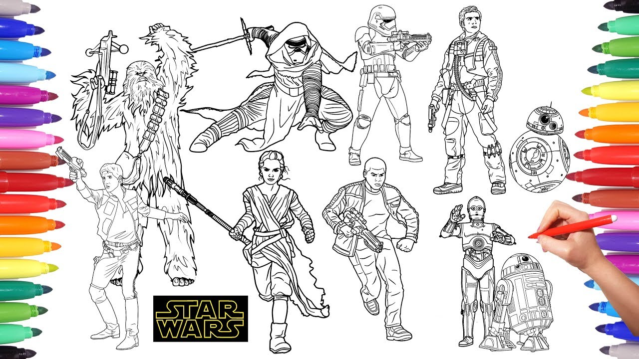 STAR WARS Coloring Pages | How to Color Every Star Wars Character ...