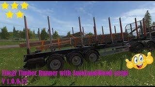 Link:https://www.modhoster.de/mods/fliegl-timber-runner-with-autoloadwood-script#description http://www.modhub.us/farming-simulator-2017-mods/fliegl-timber-runner-with-autoloadwood-script-v1-0-0-17/ Beschreibung  Mit diesem Fliegl Anhänger können Sie Holz