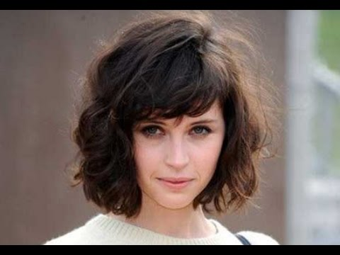 Wavy Bob Hairstyle With Bangs Youtube
