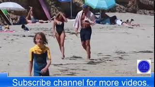 Blake Griffin strolls beach with girlfriend Francesca Aiello