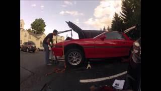 Mk3 Supra - Engine Swap In A Parking Lot