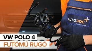 VW POLO hátsó bal jobb Lengéscsillapító rugó beszerelése: videó útmutató