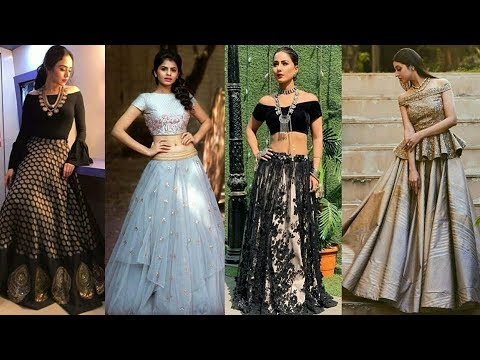 High Fashion Crop Top Dress Designs 2019 Latest Crop Top Lehenga Ideas For Girls Trendy India