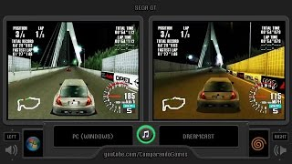 Sega GT (Pc vs Dreamcast) Side by Side Comparison