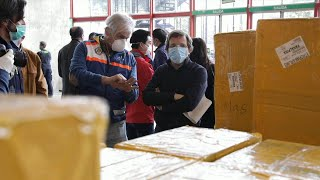 Chinese community donates sanitary equipment to Madrid City Hall