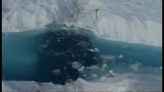 Huge ice island breaks from Greenland glacier