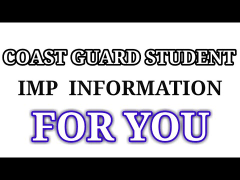 ALERT!!!! COAST GUARD STUDENTS