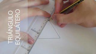 ¿Cómo hacer un triángulo equilátero a partir de un segmento A-B?
