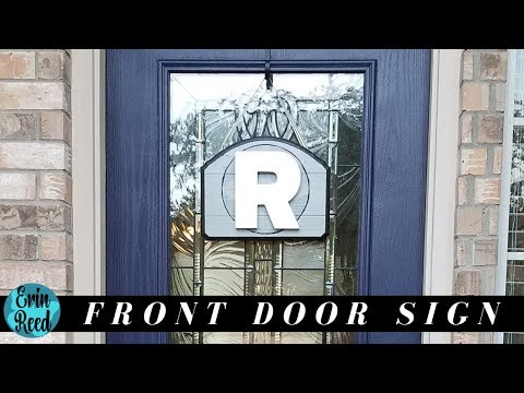 DIY Front Door Monogrammed Wood Sign