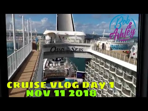 Oasis of the Seas Nov 2018 Cruise Vlog Day 1 /Embarkation/ Room & Ship tour /Sail Away /Chops Grille
