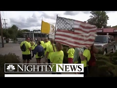Pilgrims Make Journey On Foot See Pope Francis | NBC Nightly News