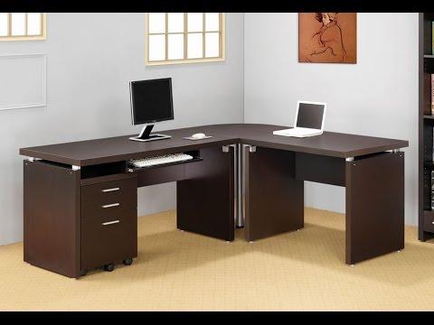 Computer Desk 2014  Office LShaped Desk with 2 Shelves