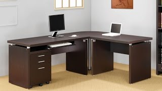 Computer Desk 2014 - Office L-shaped Desk With 2 Shelves Is Compact And Affordable Easy