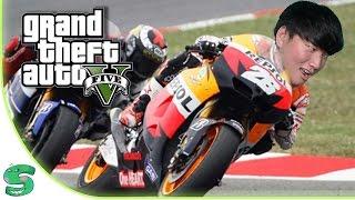 BALAPAN SEPEDA & MOTOR ( GTA 5 Indonesia Funny Moments )