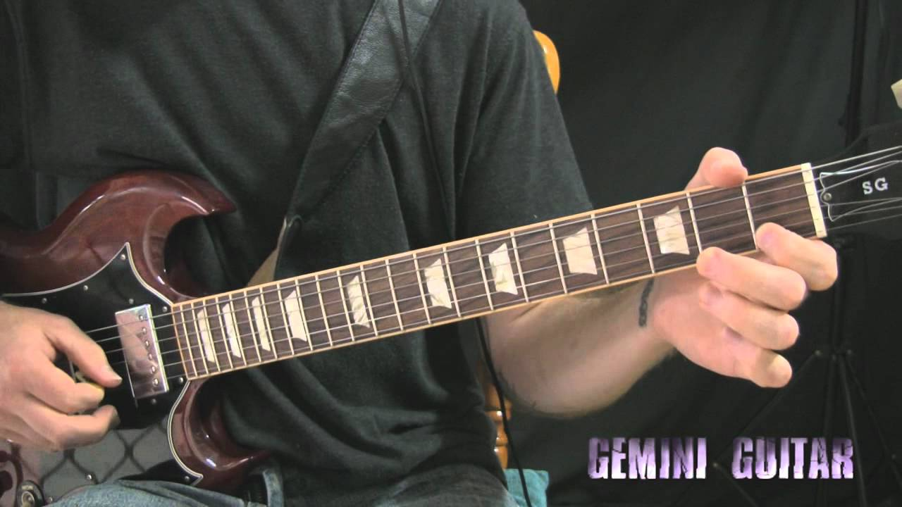 Blues Rock Guitar Lesson Groove Riffing Youtube