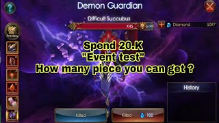 "Spend 20.K ""Dimensional Hunt"" and Try to get Abbodon wing 