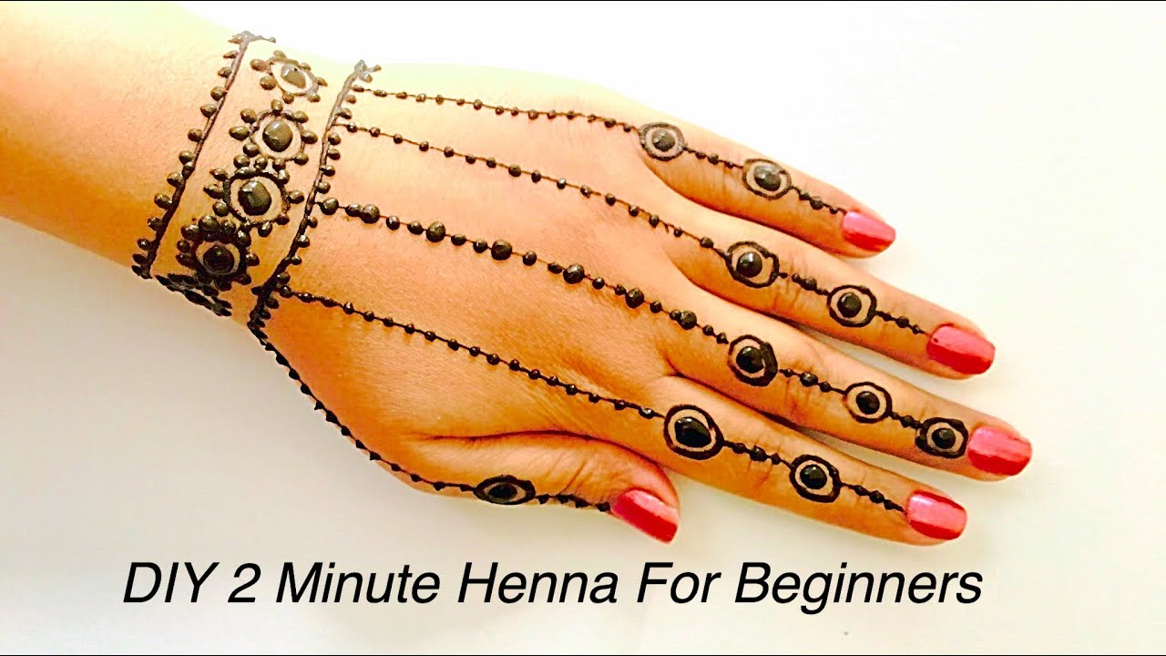 easiest henna mehndi tattoo design step by step eid 2016 henna hennaandnailart youtube. Black Bedroom Furniture Sets. Home Design Ideas