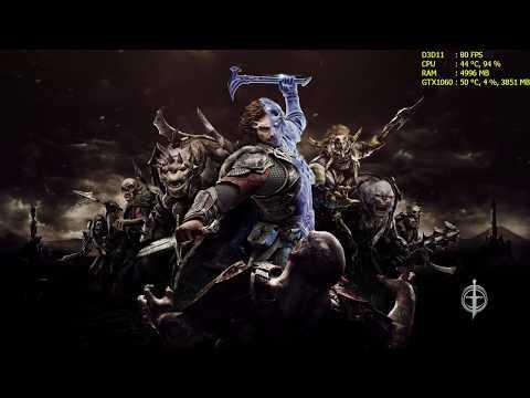 Middle-earth: Shadow of War | GTX 1060 | i5 6500 | 16GB RAM | 1080p