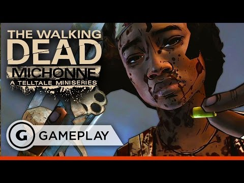 Slaughtering Walkers - The Walking Dead: Michonne Episode 1 Gameplay