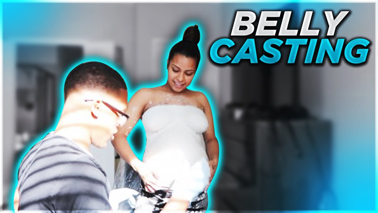 PREGNANCY BELLY CAST!! (SHE FAINTED )