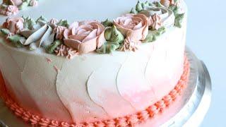 Whipped Cream Rose Cake Tutorial