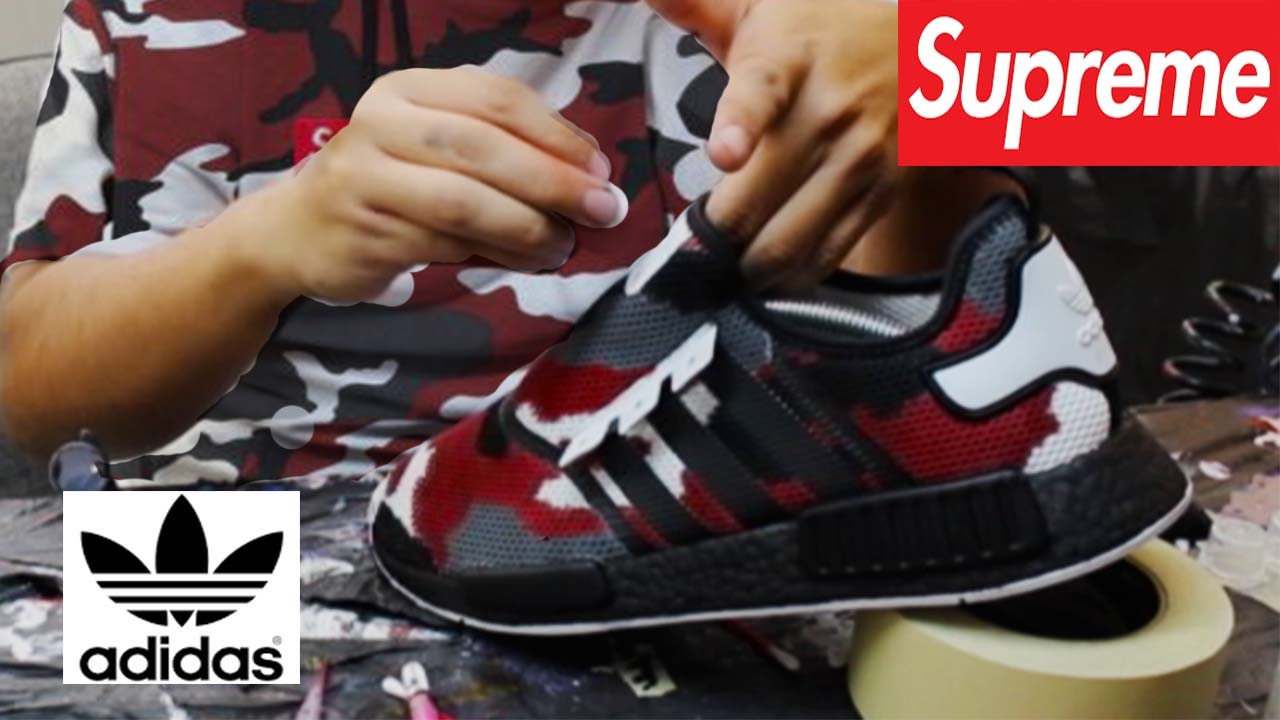 55a1be4ab8666 Red Urban Camo Nmd Custom!!! - YouTube