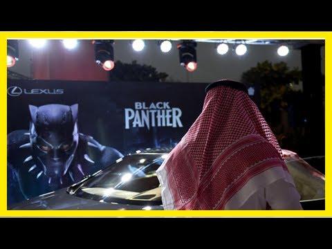 "Breaking News | Saudi Arabia screens ""Black Panther"" in first movie theater"
