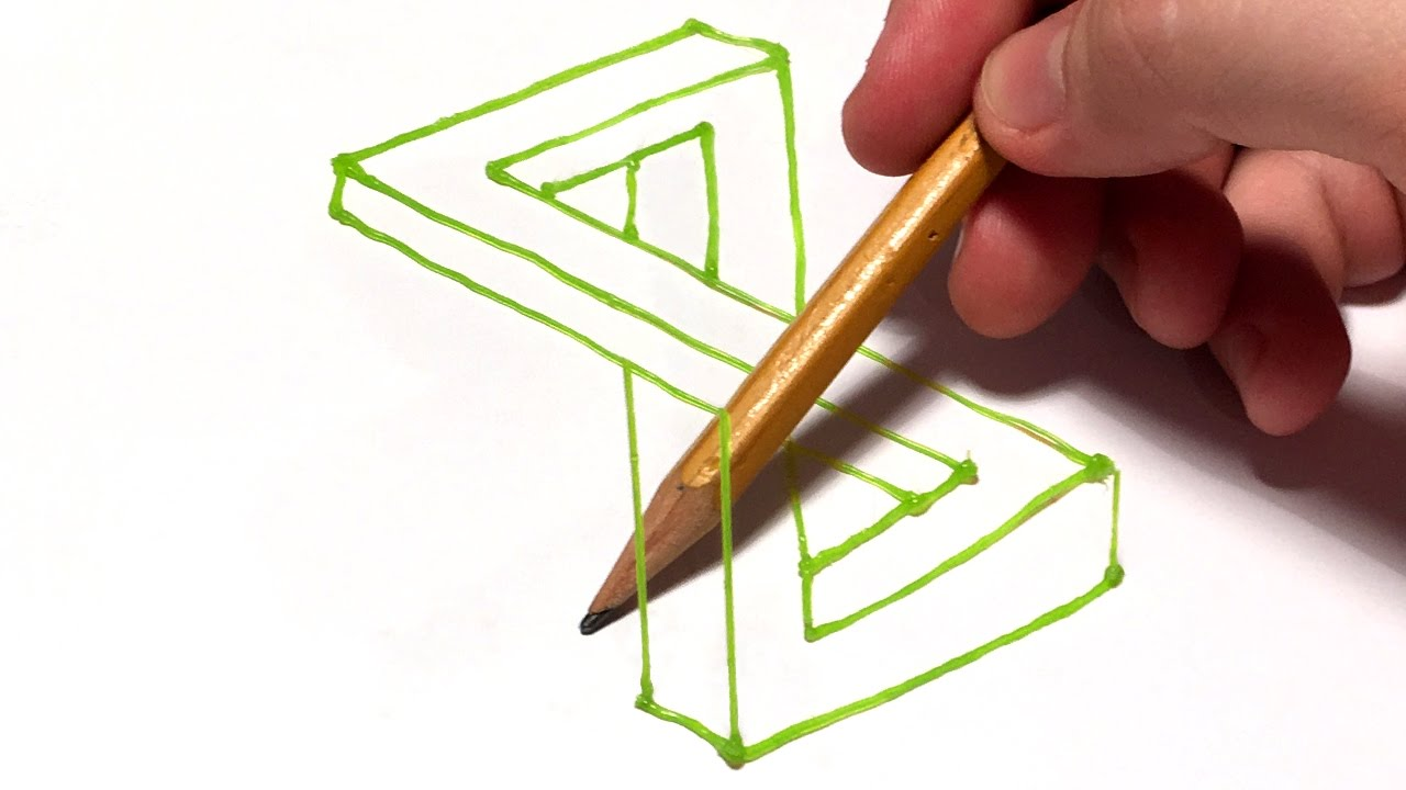 4d drawing amazing optical illusion dirty mind trick with 3d pen