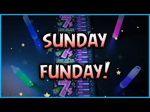 SUNDAY FUNDAY!! (15) $2 Neon 7's - Florida Lottery Scratchers