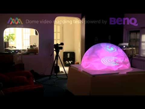 Maxmedia dome video mapping tests