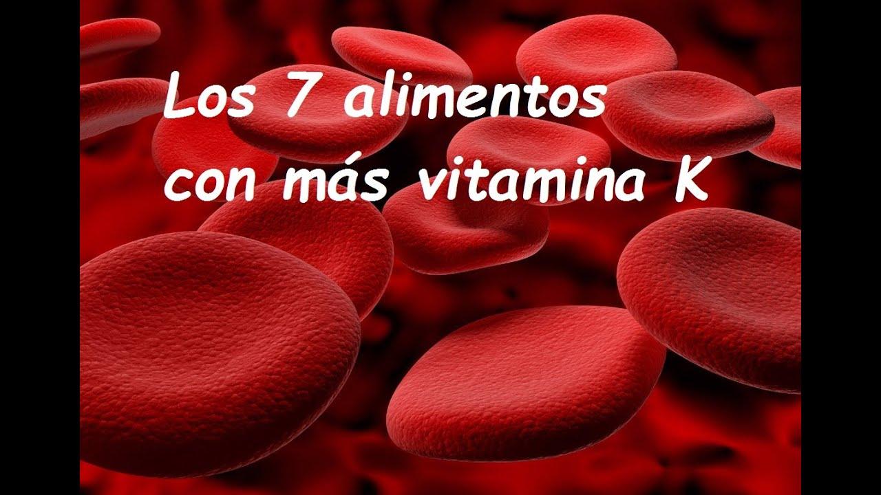 frutas q tienen vitamina k