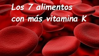 Los 7 alimentos con más  vitamina k
