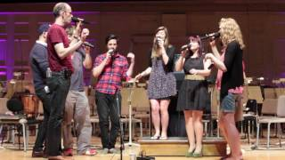"The Swingle Singers perform ""Lady Madonna"" during a rehearsal at Sy..."