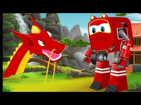 SuperCar Baby Rikki Rescue Kids From Dragon | Kids Cartoon Video