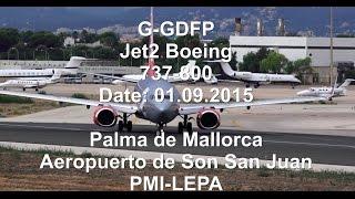 G-GDFP Jet2 Boeing 737-800 TAKE OFF PMI Palma de Mallorca [1080p]