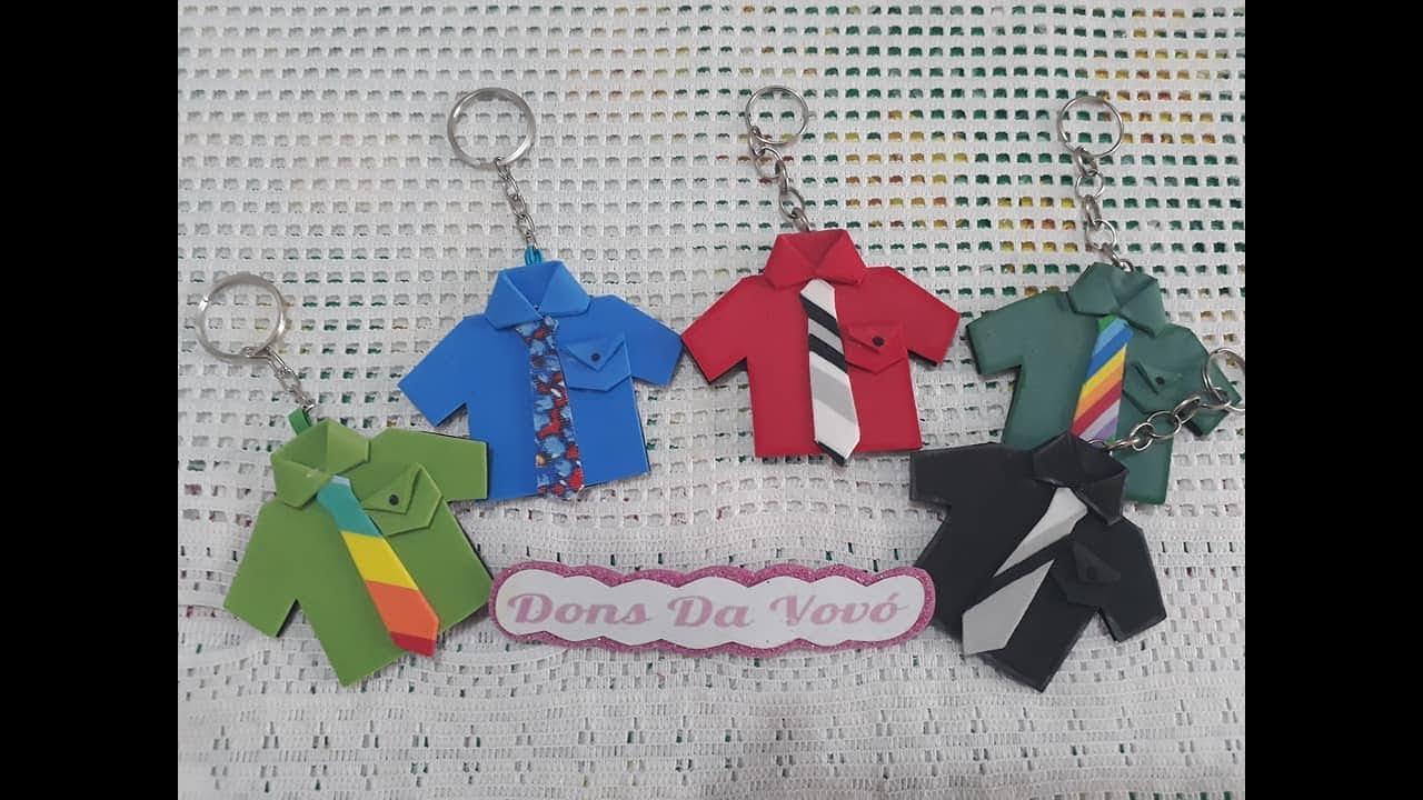 Lembrancinha Dia Dos Paischaveiro De Camisa Donsdavovo
